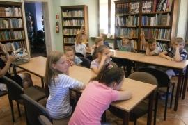 Lekcja biblioteczna dla klas trzecich