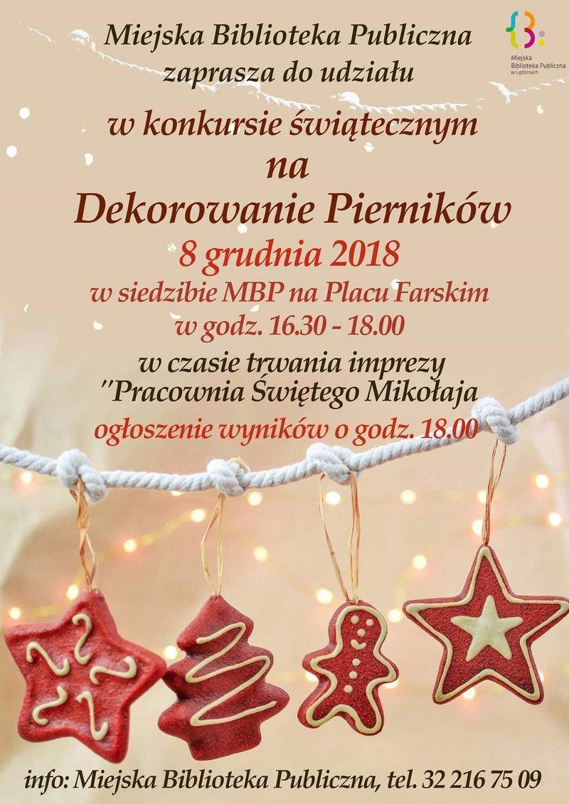 Konkurs świąteczny naDekorowanie Pierników